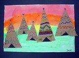 Gr 4 art idea for First Nations