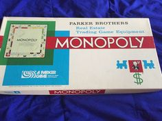 Vintage 1961 Monopoly Board Game