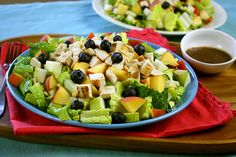 SmartPoints® value 4 Chick-a-licious Fruity Green Salad Recipe | Hungry Girl