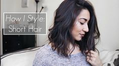 How to Style Short Hair   Messy Waves #LOB #LooseCurls #HairTutorial #ShorHairstyles
