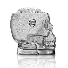 Glass Skull Ice Bucket ... another piece for the bar ...