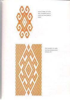 TELAR MAPUCHE.pdf Loom Patterns, Cross Stitch Patterns, Diy Necklace Patterns, Crochet Chart, Aldo, Passport, Macrame, Indigo, Weaving
