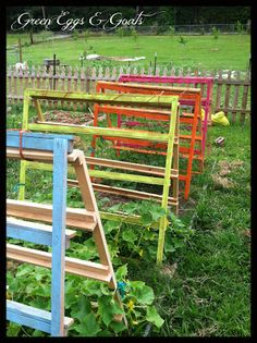 Green Eggs and Goats: Fun, Funky, Free Garden Trellis and Tomato Cage!