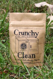 Crunchy Clean laundry soap--perfect for cloth diapers!