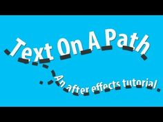 Animate Text On A Path - Adobe After Effects tutorial - YouTube