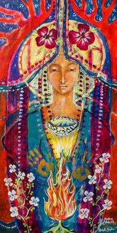Art - Goddesses, Muses & Spiritual Art, Shekinnah Painting - Invoking Shekinah by Shiloh Sophia McCloud Sacred Feminine, Divine Feminine, Feminine Energy, Queen Of Heaven, Divine Mother, Mother Mary, Goddess Art, Daughter Of God, Shiloh