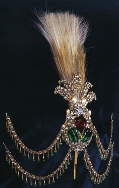 Ottoman crest, 18th century, gold, diamonds, emeralds, rubies, pearls, lenghth: 32 cm - Topkapi Palace Museum