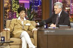 Artist Prince during an interview with host Jay Leno on February 26, 2004 --