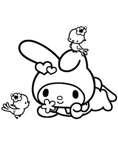 My Melody Coloring Pages Fantasy Coloring Pages my melody