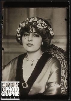 Geneviève Lantelme (1887-1911), actrice française. Paris, vers 1910.