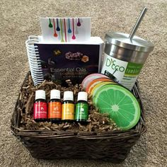 Young Living essential oils citrus gift basket