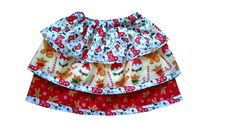 Stunning multi color Spanish girls ruffle skirt with snowflake