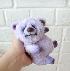 Violet teddy bear Handmade Stuffed animal Artist teddy bear Ooak bear Ours artiste Free shipping by HappyBearR on Etsy