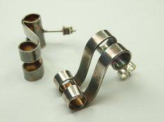 Elegant Scroll Earrings in Fine Silver by CallumKiltsJewellery