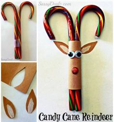 candy-cane-reindeer-craft and TONS of other Christmas crafts Preschool Christmas, Christmas Activities, Christmas Crafts For Kids, Christmas Projects, Holiday Crafts, Holiday Fun, Christmas Decorations, Christmas Ideas, Christmas Classroom Treats