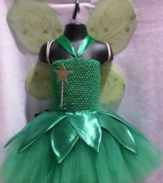Tinkerbell inspired tutu costume by partybootique on Etsy