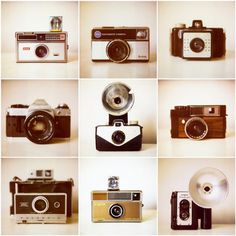 Tic tac toe with vintage cameras; everyone wins ;)