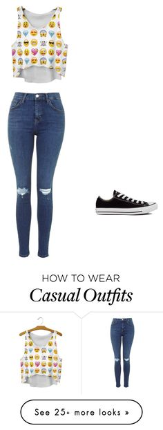 """Casual"" by sofivesga on Polyvore featuring moda y Converse"