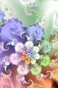 Fractal ~ Pastel Rose by heavenriver.deviantart.com