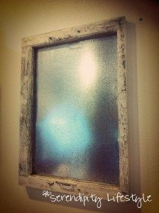 Recycle an old window into a magnet board!