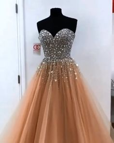 2019 Long Prom Dresses Champagne, Sweetheart Tulle Princess Formal Evening Dresses with Sequins Latest Sweetheart Champagne Tulle with Sequins Princess Prom Dresses for teens. All Size, More Design, Off Lower Price · Secure Paym Senior Prom Dresses, Gold Prom Dresses, Princess Prom Dresses, Elegant Prom Dresses, Tulle Prom Dress, Long Wedding Dresses, Quinceanera Dresses, Formal Evening Dresses, Dance Dresses