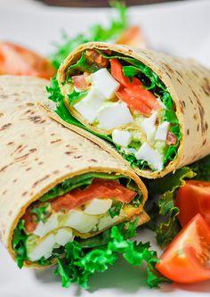 Avocado Egg Salad Wraps