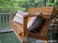 How to safely hang a porch swing