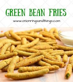 These green bean fries are breaded and then deep-fried until golden and crisp; Dipped in ranch, they're addictingly delicious