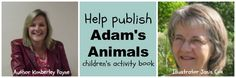 Adam's Animals by Kimberley Payne - a new kids book that needs some help getting published! Fiction Stories, Fiction And Nonfiction, Kids Activity Books, Activities For Kids, New Kids, Art For Kids, Chapter Books, Book Authors, Fun Facts