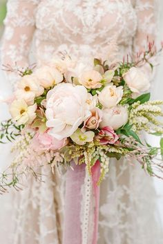 Glamorous Blush Wedding Bouquets That Inspire ❤ See more: http://www.weddingforward.com/blush-wedding-bouquets/ #weddingforward #bride #bridal #wedding