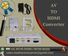 AV to HDMI Converter  Enquiry on : +91 99740 93088 / 99798 86300 Email Us : sales.madhaventerprise@gmail.com