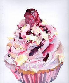 Raspberry Delight Cupcake
