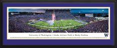 Washington Huskies Football Panoramic Picture - Husky Stadium - Deluxe Frame $199.95