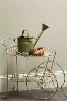 We have a vintage garden or tea cart like this one for rent at Southern Vintage