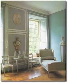 More gray, pale turquoise and white Gustavian Swedish color palette inspiration.