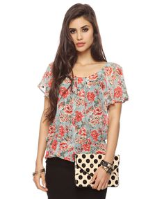 Flounce Floral Top | FOREVER21 - 2000038552