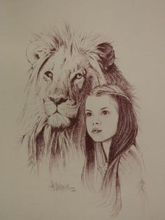 """Aslan and Lucy"" by Robert Bucknell."