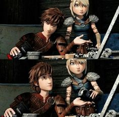 You know you're best friends when you can understand what they're saying without having to speak verbally or even look at them. Hicks Und Astrid, Hiccup And Astrid, Httyd 3, Dragon Rider, Dragon Pictures, Happy Together, Disney And More, How To Train Your Dragon, Editing Pictures