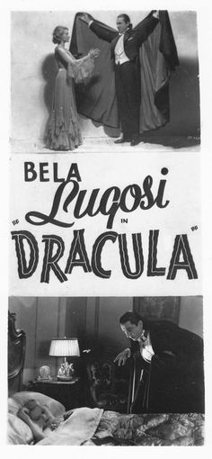 Dracula 1931 Bela lugosi, Helen Chandler, and Frances Dade (pictured) Scary Movies, Old Movies, Vintage Movies, Horror Movie Posters, Horror Films, Dracula Film, Tv Movie, Horror Monsters, Famous Monsters