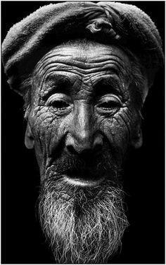 visage de vieux