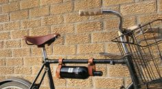 Ever stuck short trying to transport a bottle of #wine on your #bike? If so then this next #gadget could be just for you - http://www.finedininglovers.com/blog/curious-bites/the-bicycle-wine-rack/