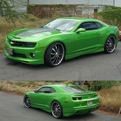 Nice Camaro SS!  #protecautocare #engineflush #chevy #chevorlet #camaro #american #muscle #car #ss #green #custom #paint #nofilter #followus