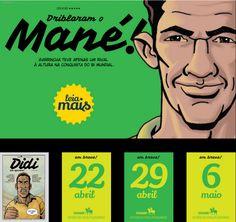 Captura de tela parcial do infográfico interativo Histórias do Penta em quadrinhos | Estado de S. Paulo