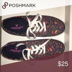 American Eagle Van sneakers Floral pattern, van-like sneakers, hardly worn American Eagle Outfitters Shoes Sneakers