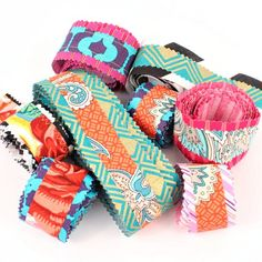 Turn your fabric scraps into beautiful ribbons for all of your boho projects.