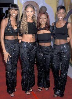 Beyoncé e a primeira formação do Destiny's Child