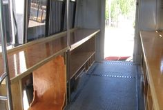 The inside of the bus after I finished construction but before I installed any tools or materials