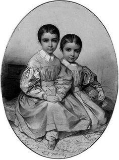 Alexandre et de Léon Gosselin - Paul Delaroche - francés) Paul Delaroche, Beauty In Art, French Artists, Art Oil, Art For Kids, Twins, Concept, Children, Illustration
