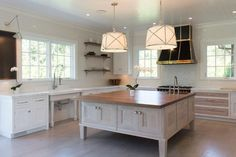 Large square kitchen island with feet