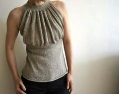 Canotta knit ruched tank top
